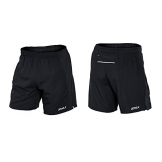 2XU Mens Pace 7 inch short, black/black, X-Large -