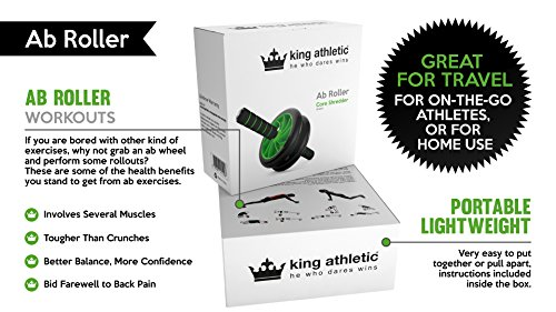 Ab Roller Wheel :: Abs Carver for Abdominal & Stomach Exercise Training :: Fitness Equipment Core Shredding -