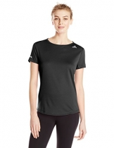 adidas Performance Women's Sequencials Money Short-Sleeve Tee, Black, Small -