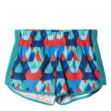 adidas Women's M10 Q1 Woven Graphic Shorts EQT Green/Shock Red Print Shorts XS X 3 -