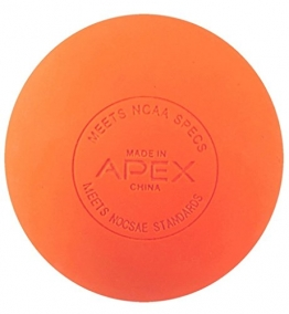 Apex Sports- Lacrosse Massage Ball- NOCSAE/ NFHS/ NCAA- Orange Color (1 ball) -