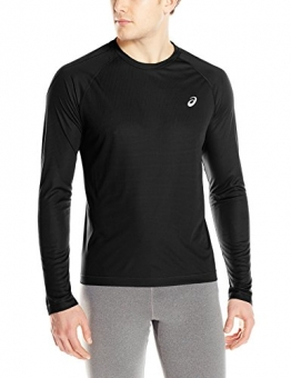 ASICS Men's Performance Run Long Sleeve Crew Top, Performance Black, Small -