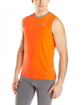 ASICS Men's Performance Run Lyte Sleeveless Jersey, Shock Orange/Frost, XX-Large -