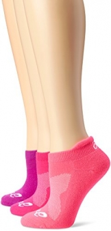 ASICS Women's Cushion Low Cut Sock (Pack of 3), Small, Knockout Pink -