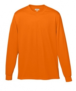 Augusta Sportswear MEN'S WICKING LONG SLEEVE T-SHIRT L Power Orange -