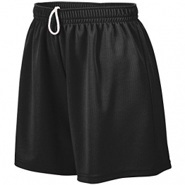 Augusta Sportswear WOMEN'S WICKING MESH SHORT S Black -