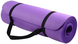 BalanceFrom Go Yoga All Purpose Anti-Tear Exercise Yoga Mat with Carrying Strap, Purple -