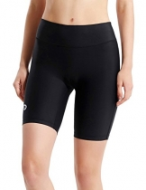"Baleaf Women's 7"" Active Fitness Pocket Running Shorts Black Size XL -"