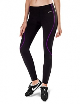 Baleaf Women's Thermal Fleece Running Cycling Tights Black Purple Size M -