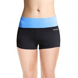 Baleaf Women's Workout Yoga Running Boy Cut Foldover Shorts Inner Pocket Little Boy Blue Size M -
