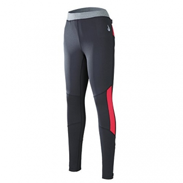 Beroy Women's Full Length Thermal Active Compression Tights Thin Fleece Sports Pants (X-Large, Red) -