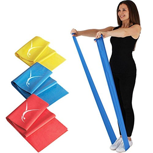 Booty Resistance Bands for any Workout- Set of 3 Bands (Straight) Latex Free -