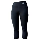 Compression Capri Pants For Women (Black-M) 3/4 Length Leggings -
