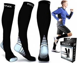 Compression Socks for Men & Women, BEST Graduated Athletic Fit for Running, Nurses, Shin Splints, Flight Travel, & Maternity Pregnancy. Boost Stamina, Circulation, & Recovery - Includes FREE EBook! -