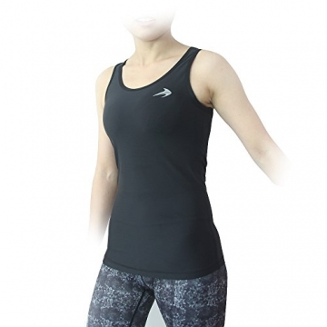 Compression Tank Top (Black-XL) Women's Racerback Sleeveless Sports Tee -