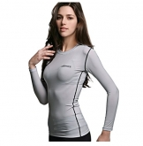 COOVY ATHLETE Women's Compression Base Layer Long-Sleeve Top, Style W04 -