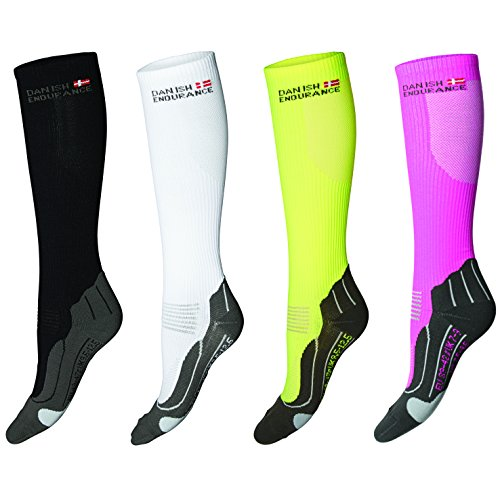 DANISH ENDURANCE Compression Socks // (US 5-8, White/Grey) -