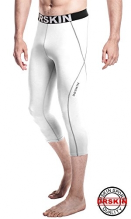 [DRSKIN] Tight 3/4 Compression Pants Base Layer Running Pants Men Women (M, WG806) -