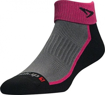 DryMax Trail Run 1/4 Crew (Turndown), October Pink/Black, W5-7 / M3.5-5.5, 2 Pack -