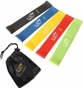 Fit Simplify Resistance Loop Exercise 5 Bands with Instructional Booklet ,Carry Bag, eBook and Online Videos -