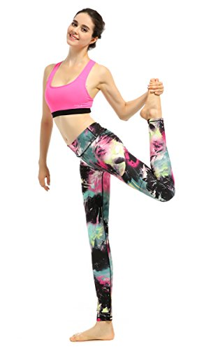 Funycell Women's Yoga Pants Workout Running Leggings Printing 12 Small -