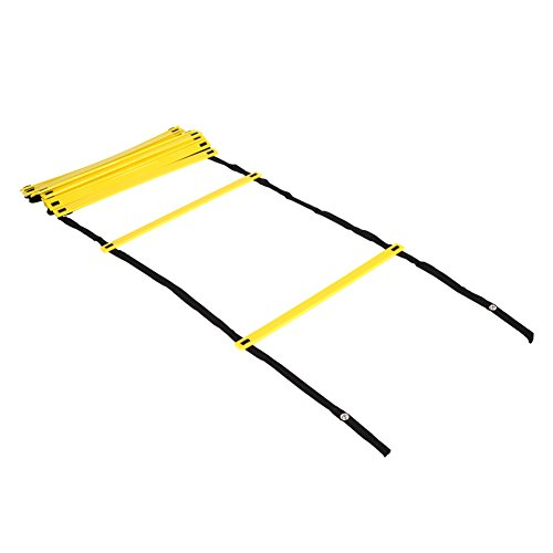 GHB Pro Agility Ladder Agility Training Ladder Speed Flat Rung with Carrying Bag 12 Rungs -