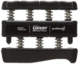 Gripmaster Hand Exerciser Black, Heavy Tension (9-Pounds per Finger) -