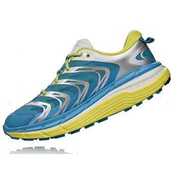 Hoka One One Speedgoat Cyan/Citrus Men's Running Shoes -