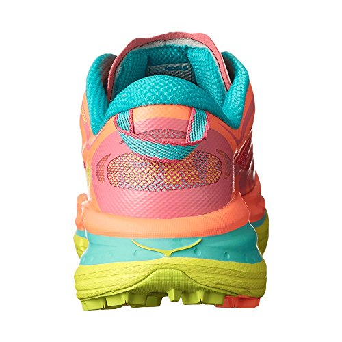 Hoka One One Women's Speedgoat Shoe (8, Neon Coral) -