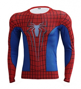 IdeaBox Men's Compression Shirt Super Hero Long Sleeve Short Sleeve Workout Fitness Shirt -