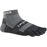 Injinji 2.0 Outdoor Original Weight Micro Nuwwol Socks, Charcoal/Black -