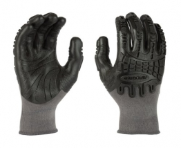 Mad Grip F100 Thunderdome Impact Gloves, Grey/Black, Medium -