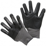 Mad Grip F50 Pro Palm Knuckler Gloves, Grey/Black, Small/Medium -