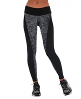 Manstore Women's Tights Active Yoga Running Pants Workout Leggings GREY M -