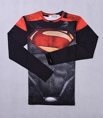 Men's Long-Sleeve Compression T-Shirt Superman Gym Clothing Baselayer Puls Size S-5XL -