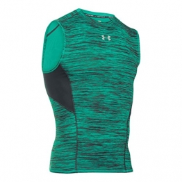 Men's Under Armour HeatGear CoolSwitch Compression Sleeveless, Green Malachite, Medium -