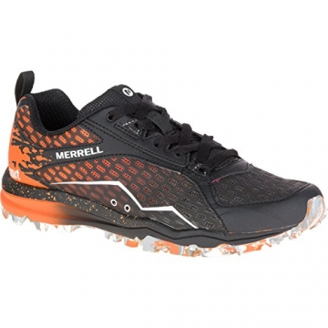 Merrell All Out Crush Ladies Running Shoes, Color- Black/Orange, US Shoe Size- 6.5 US / 4 UK -