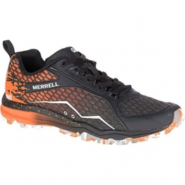 Merrell All Out Crush Tough Mudder Men's Running Shoes, Orange, US13.5 -