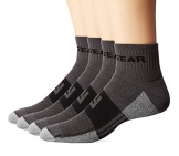 MudGear Trail Running Socks for Men and Women - 2 Pair Pack (Gray/Black, Large) -