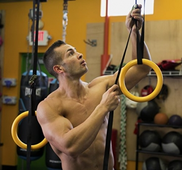 Nayoya Gymnastic Rings for Full Body Strength and Crossfit Training -