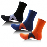 Neacom mens athletic compression socks crew running ankle support on show 3 Pairs -