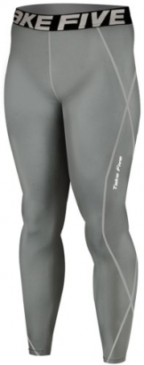 New 019 Skin Tights Compression Leggings Base Layer Grey Running Pants Mens (XL) -