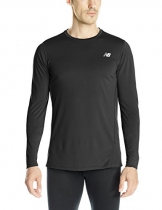 New Balance Men's Accelerate Long Sleeve Tee, Black, Small -