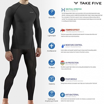 New Men Sports Apparel Skin Tights Compression Base Under Layer Long Pants (L, NP505 NAVY) -