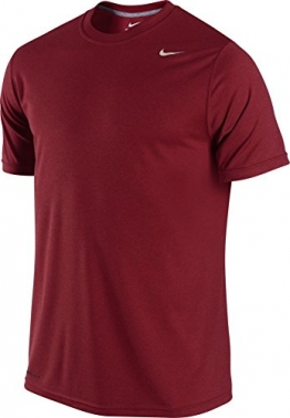 Nike Men's Legend Dri-FIT(tm) Poly Short Sleeve Crew Top Team Red T-Shirt LG -