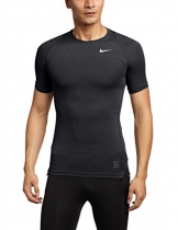 Nike Men's Pro Cool Compression Shirt Tee Dri-Fit Black Size XL -