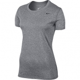 Nike Women's Dri-Fit Legend Short Sleeve T-Shirt (Large, Gray) -