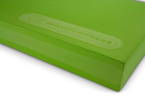 NO.1 Physical Therapist Recommended Balance Pad, Gravity Fitness Premium Quality Non-slip Balance Pad, Includes Free Storage Bag and Exercise Program, Large, Green -