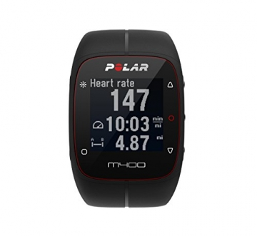 Polar M400 GPS Smart Sports Watch with Heart Rate Monitor (Black) -