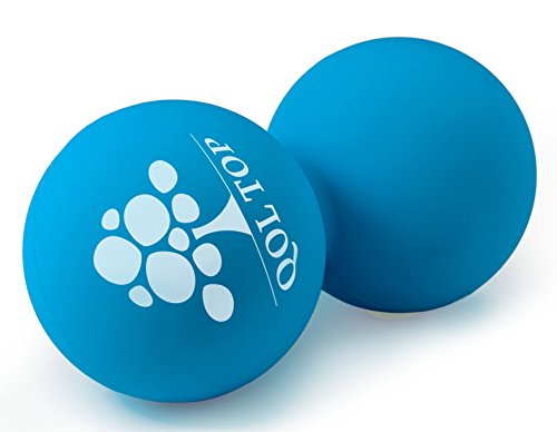 QOL TOP -Double Lacrosse Massage Balls- Suited for Myofascial Release and Self-yoga Using Trigger Point and Deep Tissue Therapy of Feet, Hands, Back. -